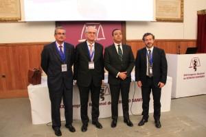 De izda. a dcha., José Guerrero, Carlos Lema, el Dr. Óscar Castro y Ricardo Pérez.
