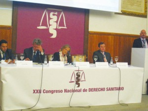 De izda. a dcha., Xavier Olba, Luis Javier Bonilla, Margarita Alfonsel, Antonio Troncoso y el Dr. César Pascual.