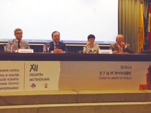 De izda. a dcha., los doctores Cristóbal Coronel, Joaquín Ortiz, Antonia Domínguez y José Del Pozo Machuca.