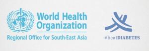 Logo y eslogan utilizado por la OMS en el Día Mundial de la salud: «Beat Diabetes» («Vence a la diabetes»).