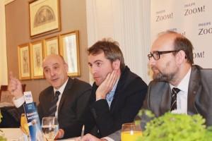 De izda. a dcha., los doctores José Amengual –moderador del encuentro–, Juanjo Iturralde y Gonzalo Llambés.