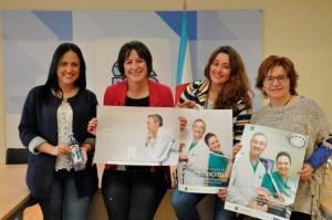 De izda. a dcha, Carolina Barrero, Ana B. Pontón, Andrea Pardo y Montserrat Prado.