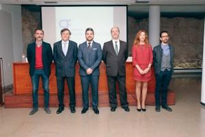 Presentación de la Fundación Paquita Fernández Lozano en Valencia. En la foto, varios patronos de la Fundación junto con representantes de empresas colaboradoras.