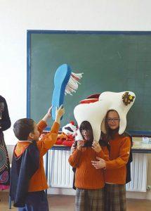 Los niños aprendieron a conocer de una forma divertida sus propios dientes.