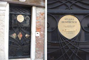 Consulta dental en pleno casco histórico de Venecia.