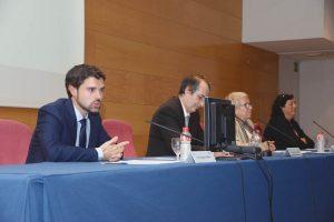 De izda. a dcha., Luis Vázquez, Fernando Suárez Bilbao, Carmen Gallardo y Teresa Fernández González.