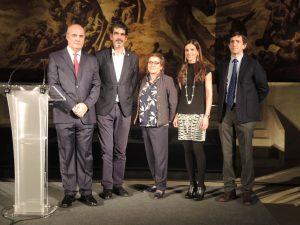 De izda. a dcha., José María Malfaz, Eneko Goia, Mirren Dorronsoro, Nina Camborda y Tomás Gastaminza.