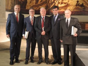 De izda. a dcha.,José María Malfaz, José Ángel Alventosa, Rafael Miñana, Manuel Peix y Juan Oliveres.
