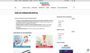 Nueva web Gaceta Dental