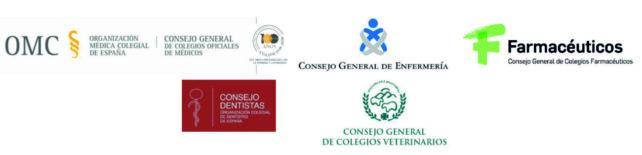 Logos Consejos Generales de las Profesiones Sanitarias.