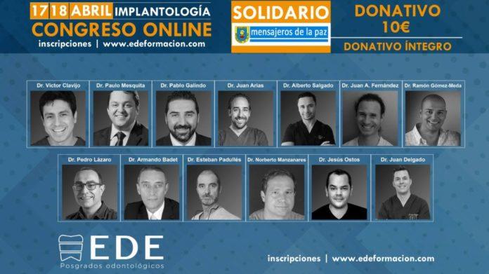 Cartel del Congreso Solidario Online Solidario de EDE Formación.