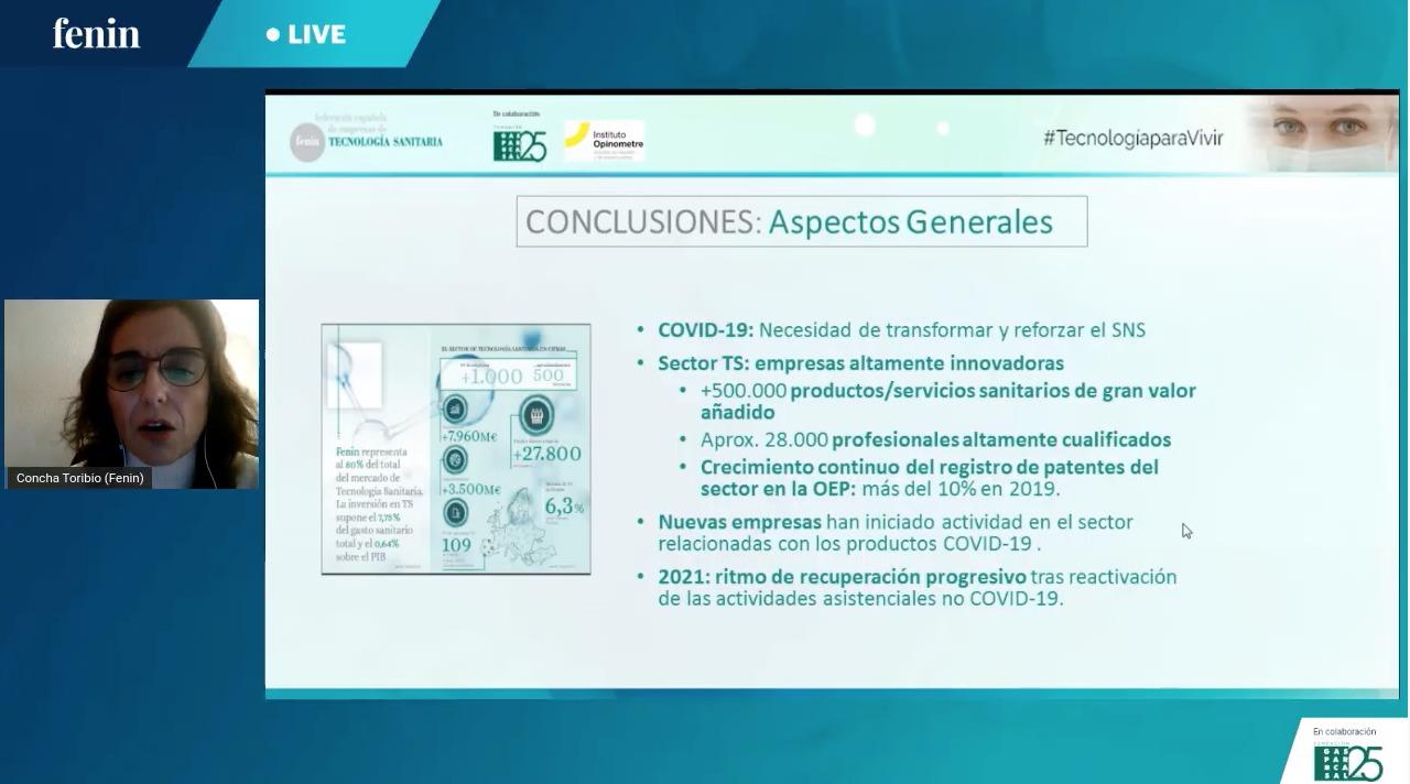 FENIN presenta un estudio sobre la Tecnología Sanitaria en el entorno Covid-19