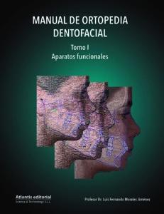 Portada del Tomo I del Manual de Ortopedia Dentofacial