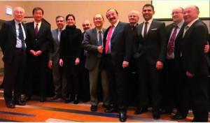 Reunión donde el Dr. Jaime A. Gil fue nombrado presidente de la International Federation of Esthetic Dentistry (Chicago 2018).
