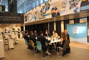 Reunión celebrada en Barcelona con algunos de los chairman del evento DS World Madrid 2021.