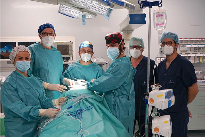Procedimiento de biopsia de ganglio centinela en cáncer oral