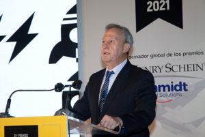 Ignacio Rojas, presidente de Peldaño, en el discurso de apertura de los Premios Gaceta Dental 2021